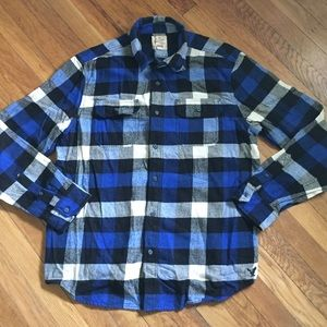 Blue American Eagle Flannel
